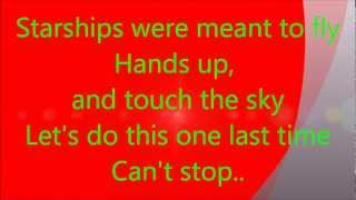 Starships - Nicki Menaj (lyrics) HD.wmv