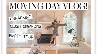 MOVING IN VLOG! Empty Tour, Unpacking, Closet organizing, ect!
