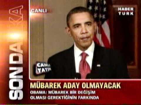 Obama'nın Mısır Açıklaması
