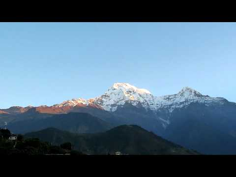 Trekking in Nepal – Annapurna Base Camp (ABC) – Sunrise early on the route