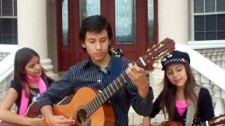 Antonio Banderas - Cancion del Mariachi cover by Castillo kids Julie 9 Jessie 11 Joey 13 2009