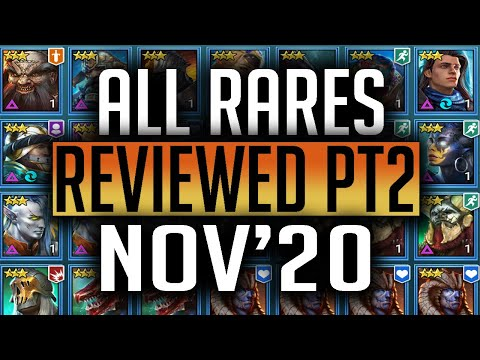 RAID | ALL RARES REVIEWED Nov'20 - Undead, Lizards, Skins. Orcs, Demons, D Elves, Knights, Dwarves