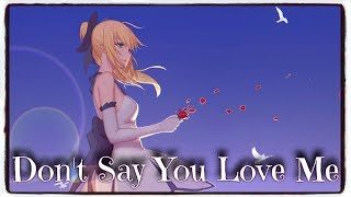 「Nightcore」→ Don't Say You Love Me (Fifth Harmony) (Lyrics)