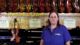 "NEW Step-Up ""Rent to Own"" Program for Stringed Instruments"