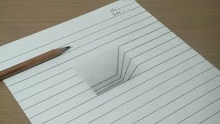 【トリックアート】ノートに穴を開ける方法  3D Trick Art