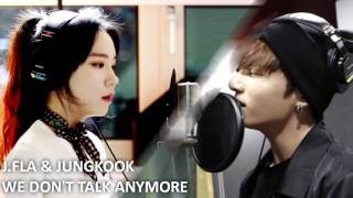 J FLA & Jungkook - We Don't Talk Anymore ( Mashup )