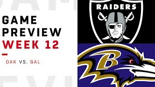 Oakland Raiders vs. Baltimore Ravens | Week 12 Game Preview | NFL Playbook