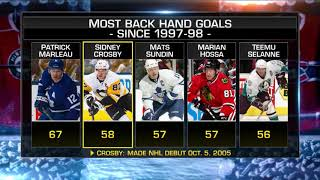 NHL Now:  Crosby`s backhander:  Discussing Sidney Crosby`s backhand goal  Oct 26,  2018
