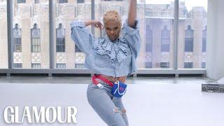 Teyana Taylor Dances to Terrible Stock Music | Glamour