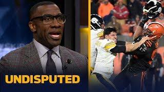 Shannon Sharpe reacts to Myles Garrett hitting Mason Rudolph with his own helmet   NFL   UNDISPUTED