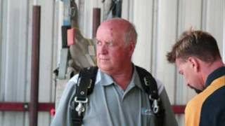 Shepparton Blue Ribbon fundraising- Frank Eyre -Matt Hanlon - Ian Macdonald Skydiving