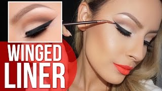 How to: Perfect winged liner tutorial - Desi Perkins width=