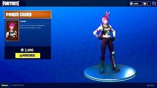"NEW ""POWER CHORD"" OUTFIT (Rockstar Girl Skin) - Fortnite Battle Royale"