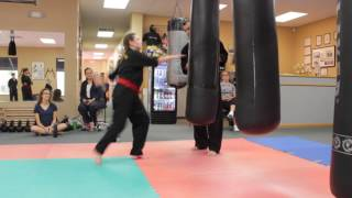 Preteen Martial Arts - Heavy Bag High Roundhouse kick