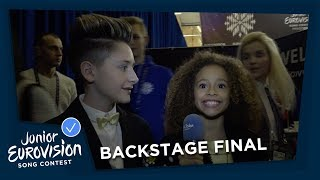 Backstage during the final of Junior Eurovision Song Contest 2018
