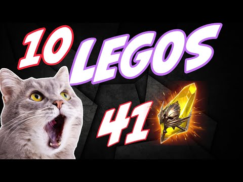 10 legos from 41 shards. Six beers deep! Hold it together Stew Raid Shadow Legends