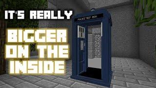 [1.13 Vanilla] TARDIS in Minecraft - Real Bigger on the Inside
