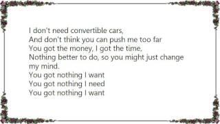 Cold Chisel - You Got Nothing I Want Lyrics