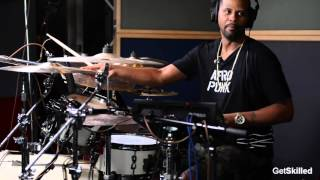 Lil' John Roberts Breaks Down 777-9311 on Drums - GetSKilled