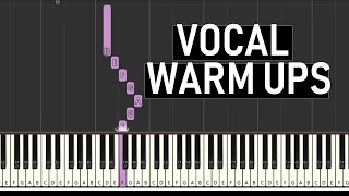 ♬ VOCAL WARM UPS #7  (TENOR RANGE C3 - C5)  (2 OCTAVES) MAJOR SCALES - By Soulphonic ♬