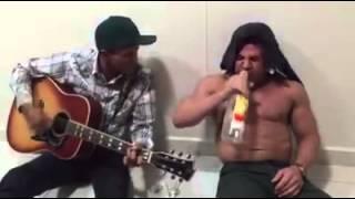 Eduardo costa bêbado com léo nascimento