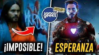 ¡TODO CAMBIA! Mañana sabremos si existe el Multiverso en Morbius, ¿Tony Stark regresará?