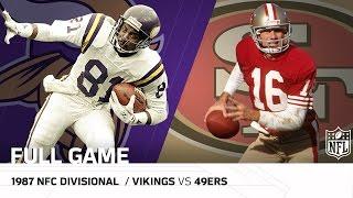 1987 NFC Divisional Playoffs: Minnesota Vikings vs. San Francisco 49ers   NFL Full Game