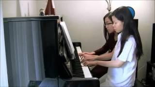 Canon in D - Pachelbel - Piano duet  (4 hands)