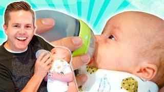 FEEDING My Baby For The FIRST TIME! width=