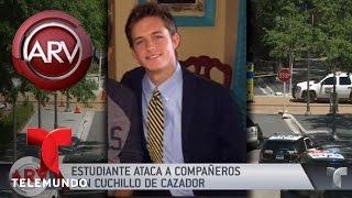Estudiante atacó a estudiantes con un cuchillo de cazador | Al Rojo Vivo | Telemundo