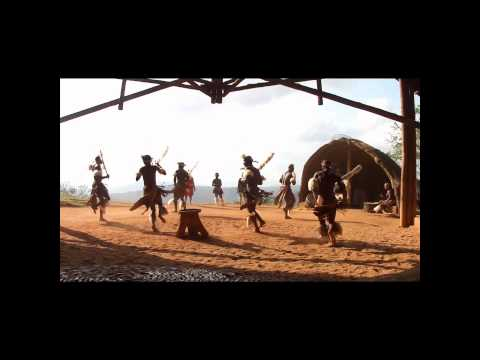 Zulu Dancing at Phezulu Bothas Hill South Africa Part 2