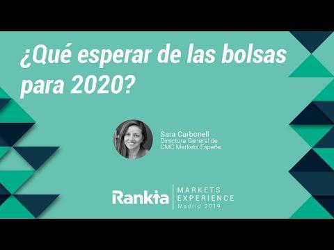 Ponencia de Sara Carbonell durante la Rankia Markets Experience. En ella la directora general de CMC Markets España nos da su visión de los mercados de cara a 2020.