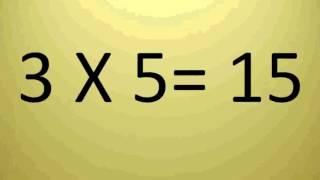 Ouvindo e Aprendendo a Tabuada de Multiplicação - Mult 3