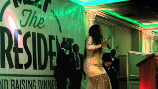 Mampi Performs Live  at  PF's  'Meet the President' Fundraising Dinner in New York.