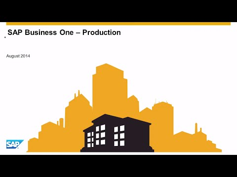 SAP Business One - Výrobní modul