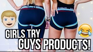Girls Try Out Guys Products! | MyLifeAsEva