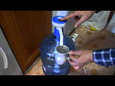 elektrikli damacana su pompası.