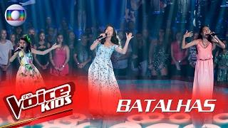 Júlia Paz, Lara Valente e Maria Vittoria cantam 'Amor I Love You' nas Batalhas – The Voice Kids