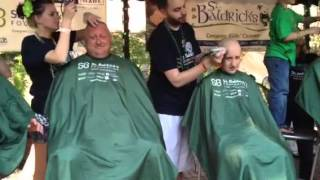 Keith and Bradley getting their heads shaved width=