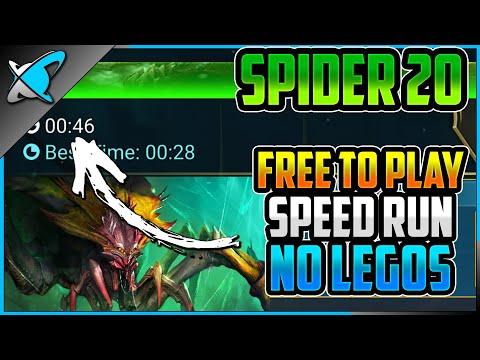 "Spider 20 ""Free To Play"" SPEED RUN !! | NO LEGENDARIES !! | RAID: Shadow Legends"