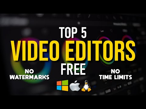 Top 5 Best FREE VIDEO EDITING Software (2019)