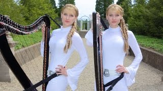STAR WARS Medley - Harp Twins - Camille and Kennerly
