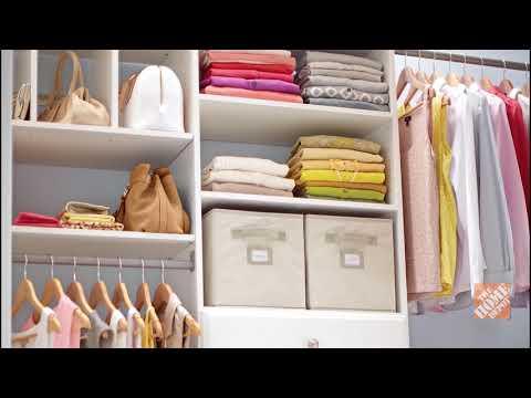 A Home Depot expert gives tips on closet organization.