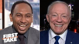 Jerry Jones and Tim Tebow wish Stephen A. happy birthday | First Take