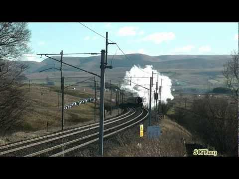 LNER A4 60009 The Cumbrian Mountain Express 2nd Feb 2013 .