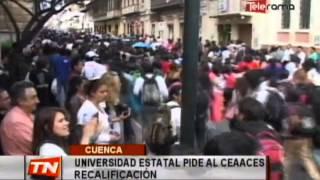 Universidad Estatal pide al CEAACES recalificación