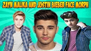 Zayn Malika And Justin Bieber Face Morph