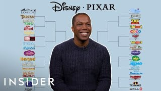 Leslie Odom, Jr. Does Disney VS Pixar Bracket