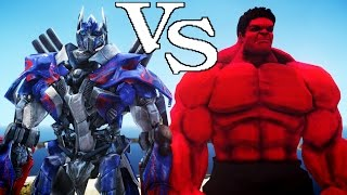 OPTIMUS PRIME VS RED HULK - EPIC BATTLE