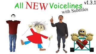 All NEW Voicelines with Subtitles (v1.3) | Baldi's Basics in Education and Learning